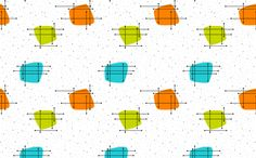 Orbit - Lime Green/Aqua/Orange on White fabric by gammagammahey on Spoonflower - custom fabric
