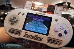 Hyperkin SupaBoy portable SNES console - click through for video