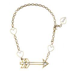 Luck crystal-embellished necklace