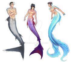 Merman Paladins by on DeviantArt Male Mermaid, Mermaid Man, Magical Creatures, Fantasy Creatures, Anime Merman, Merman Costume, Mermaid Drawings, Fantasy Art Men, Voltron Fanart