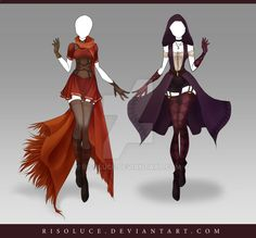 (CLOSED) Adoptable Outfit Auction 130-131 by Risoluce on DeviantArt