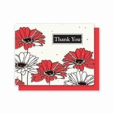 Thank You Gerber Daisy Plantable Greeting Cards - 5 Pack
