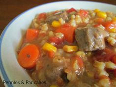 Hearty Beef & Barley Stew - easy to prepare, thick, rich, beefy, delciousness, and loaded with veggies: PERFECT for FALL!!