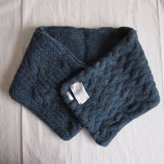 KASI KNIT MUFFLER #mix blue
