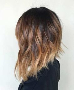 Sun-Kissed (Balayaged) Inverted Long Bob…
