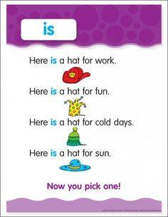 Is: Sight Word Poem and Word Cards Sight Word Sentences, Sight Word Flashcards, Teaching Sight Words, Sight Word Worksheets, Sight Word Practice, Kindergarten Worksheets, Reading Comprehension For Kids, Phonics Reading, Popcorn Words