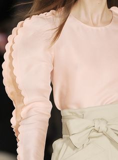 Scalloped Sleeves - dimensional structures & decorative trims; fashion details