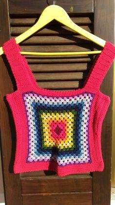 Crochet tank granny square.