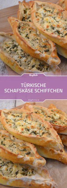 Türkisches Fingerfood: Rezept für vegetarische Schafskäse Pide #rezept #vegetarisch #fingerfood