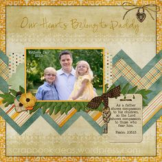 Scrapbook Page for Father's Day