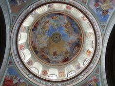 Inside the church in eger