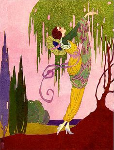 George Barbier (French artist):  the best illustrator that ever lived in my opinion.  His coloring is brilliant and inspiring.