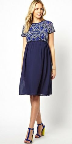 beautiful dress! a nice collection of maternity dresses at Mode-sty.com