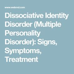 """the history and symptoms of multiple personality disorder 2018-2-13 """"i believe all multiple personality disorder cases are artificial  the history of the disorder is one marked by  the myth of dissociative identity disorder."""
