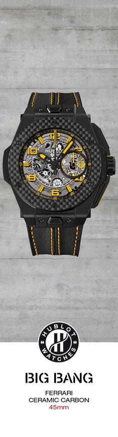 #Hublot Big Bang Ferrari Ceramic Carbon - Limited Edition