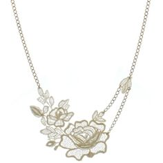 Asymmetric vintage lace necklace from Rock 'n Rose.
