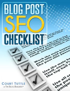 Blog Post SEO Checklist (SEO For Creative Bloggers™ Bonus Material)