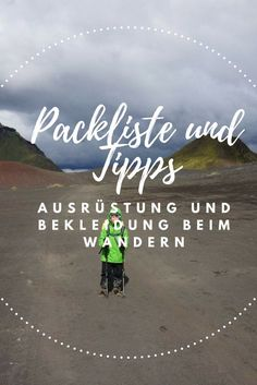 Packing list and tips on equipment & clothing while hiking - Travel Ideas 2019 Travel Packing, Travel Tips, Travel Ideas, Outfits Tipps, Trekking Outfit, Hiking Tips, Outdoor Outfit, Wanderlust Travel, Outdoor Travel