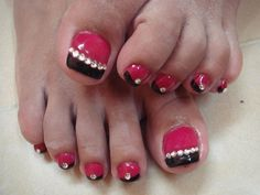 pink and black with stones