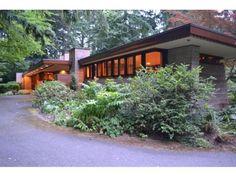 Frank Lloyd Wright. Usonian Style. Brandes home, Sammamish, Washington. 1952
