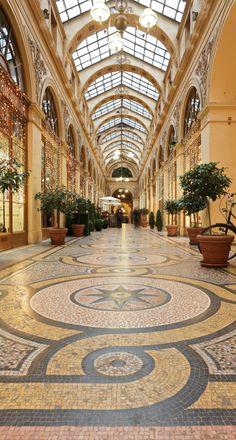 """Built in 1823 Galerie Vivienne 75002 Paris - Near """"Palais Royal"""" and """"Bourse"""" Beautiful Paris, Most Beautiful, Versailles, Galerie Vivienne, Louvre Pyramid, Palais Royal, Wooden Facade, Furniture Boutique, Paris Photography"""