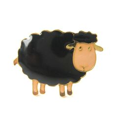 Handmade Black Sheep Lamb Shaped Animal Adjustable Ring in Black | Limited Edition