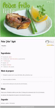 "Peixe ""frito"" light"