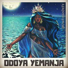 Veja mais em meu insta: @UmFilhoDeFe  Odoya Yemanja, Odocyaba! Rainha do Mar. Goddesses, Drawings, Mermaids, Fairytale, Mystic, Imagination, Gypsy, Disney Characters, Fictional Characters