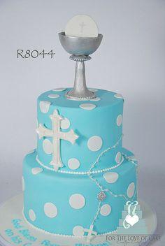 R8044-blue-first-communion-cake-toronto-oakville
