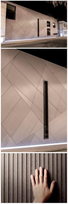Santosgaia arch. Diagonal patterns, EQUITONE [linea] facade panels. equitone.com