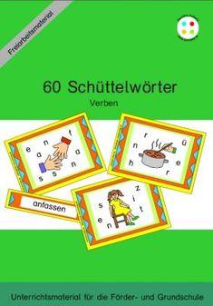 60 Schüttelwörter Verben - Freiarbeitsmaterial Wortkarten