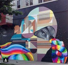 Street Art @GoogleStreetArt shared Street Art by 'Dasic Fernandez' in NY via Twitter