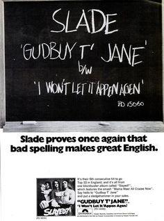 Slade Band, Noddy Holder, Billboard Magazine, Music Sites, 80s Pop, British Rock, Glam Rock, The Beatles, Spelling