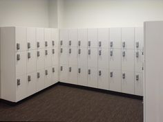Casework lockers with digital locks for higher education from HAMILTON