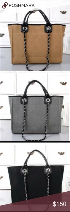 BLACK/TAN/GREY TOTE!!! NEW NEVER USED....INSANE QUALITY.....PLEASE DON'T HESITATE TO ASK FOR ADDITIONAL PICTURES!!! Bags Totes