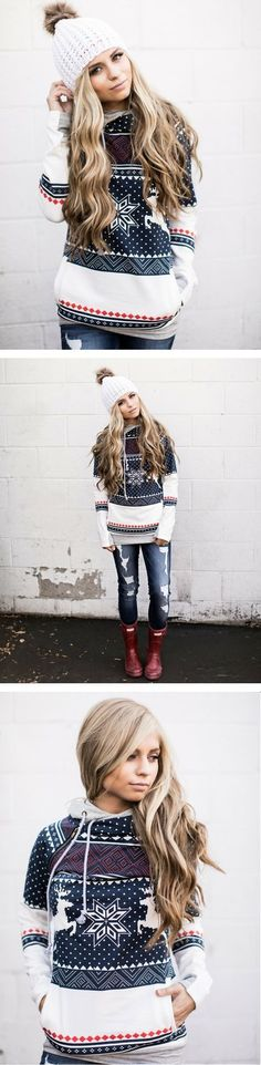 Cute Holiday Hoodie via Mindy Mae's Market
