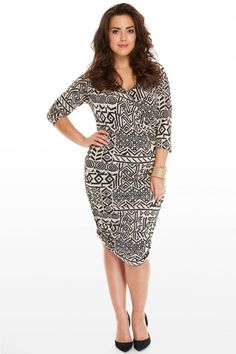 Plus Size Kyra Tribal Print Dress | Fashion To Figure $44.90