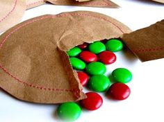 Paper bag candy pouch, perfect party favors.  (Add a rubber stamp to fancy it up.)