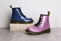 726d6d79c9615 Get into the Christmas party spirit with Dr Martens girls glitter boots!