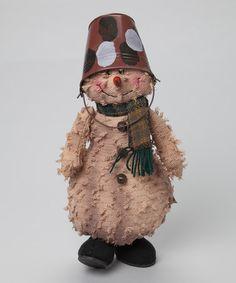 Another great find on #zulily! Snowman & Bucket Hat Figurine #zulilyfinds