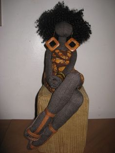 BEAUTIFUL DOLLS BY ARTIST TANYA MONTEGUT VIA BLACK CRAFTERS GUILD