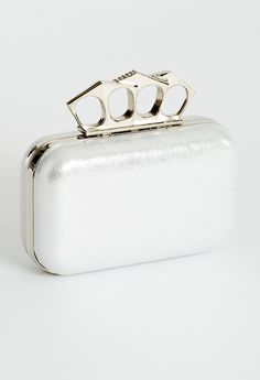 Shimmer box bag with