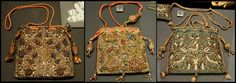 17C pouch with embroidery Victoria and Albert Museum - British Galleries