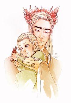 Legolas and Thranduil