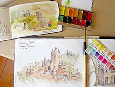 Pocket Palette in Action - Expeditionary Art   Maria Coryell-Martin