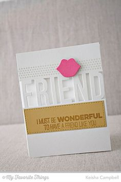 Friends like Us, Friend Die-namics, Horizontal Stitched Strips Die-namics, Photo Booth Props Die-namics - Keisha Campbell #mftstamps