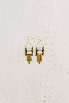 Howlite Ladder Earrings by adorngoods on Etsy https://www.etsy.com/listing/276161934/howlite-ladder-earrings