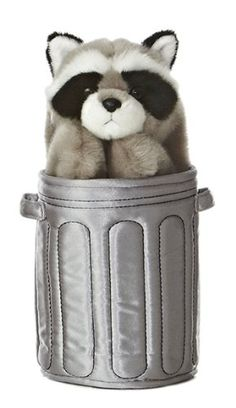 Aurora World Pop Up Raccoon 11 Plush Puppet *** Details can be found by clicking on the image.