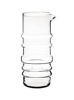 Marimekko Sukat Makkaralla - Carafe - transparent/H / Ø Marimekko, Carafe, Dwell Store, Small Sculptures, Glass Pitchers, Decoration, Clear Glass, Shot Glass, 3 D