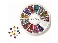 Avon Multi Colour Nail Gems Assortment Wheel ~ New Sealed ~ Free P&P Gem Nails, Nail Gems, Avon Nails, Nail Colors, Colours, Nail Jewelry, Avon Online, Avon Representative, Creative Nails